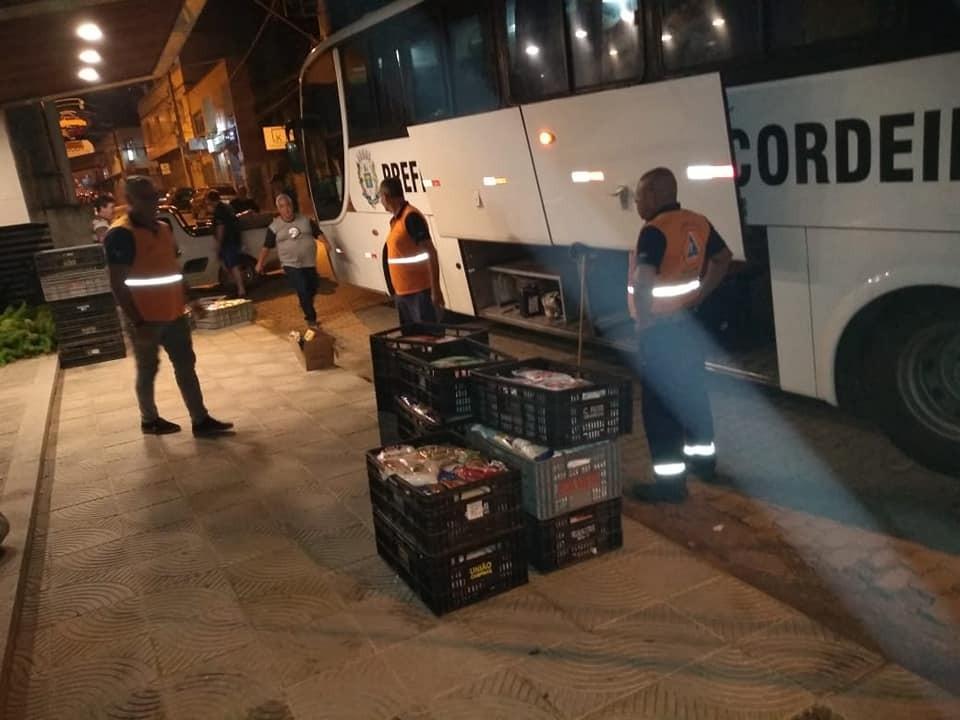 Ônibus da prefeitura de Cordeirópolis-SP trouxe solidariedade para Manhuaçu