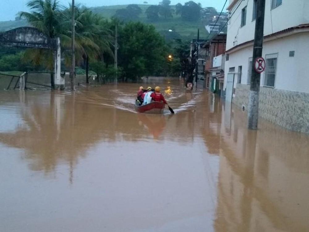 Muriáe ficou alagado após chuvas — Foto: Silvan Alves/Reprodução