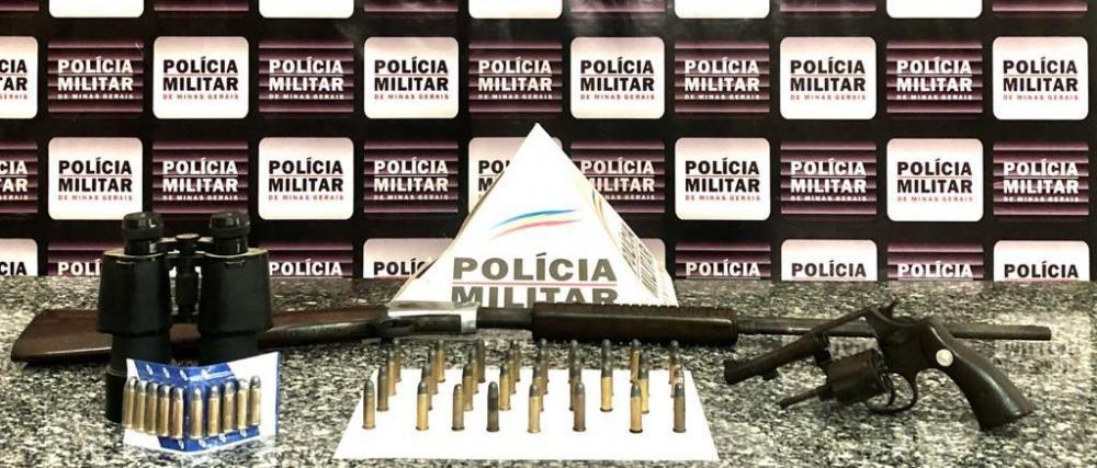 PM apreende armas de fogo e munições em Mutum
