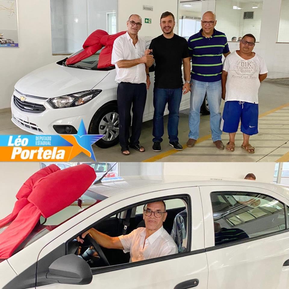 Através de uma emenda parlamentar, o Deputado Estadual, Léo Portela, entregou para Associação Beneficente de responsabilidade da Primeira Assembleia de Deus em Manhuaçu, um Chevrolet Ônix zero km.