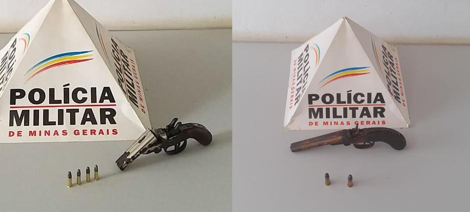 Em Simonésia PM apreende duas armas de fogo