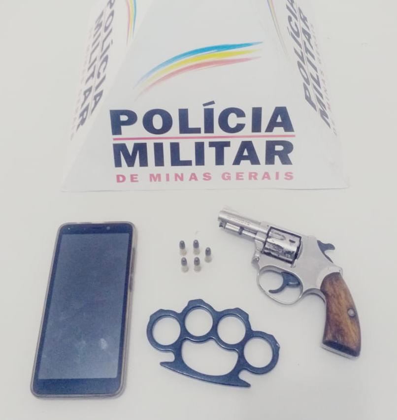 PM prende autor de homicídio tentado e apreende arma e munições em Santana do Manhuaçu