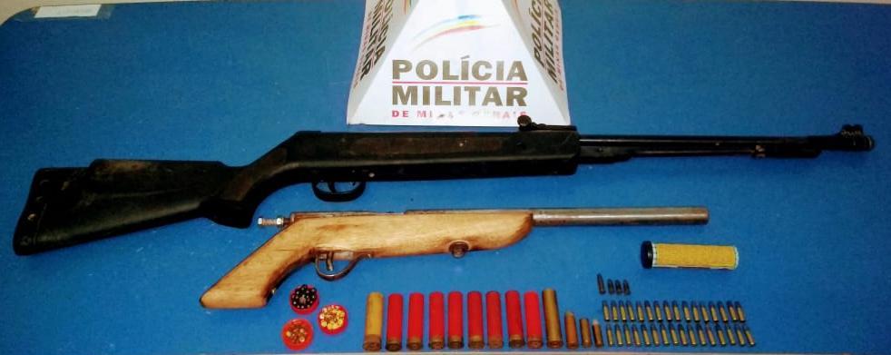 PM apreende armas e munições em Reduto
