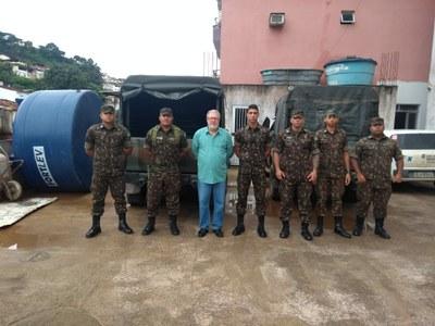 Exército Brasileiro está em Manhumirim fazendo vistorias nas pontes