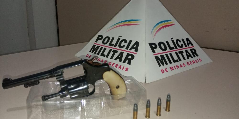 PM apreende arma de fogo em Luisburgo