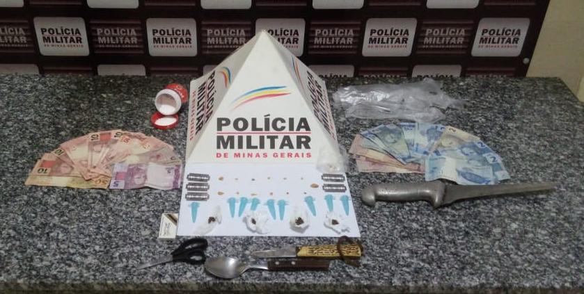 PM prende autores, apreende menores e drogas no bairro Cantinho do céu em Mutum