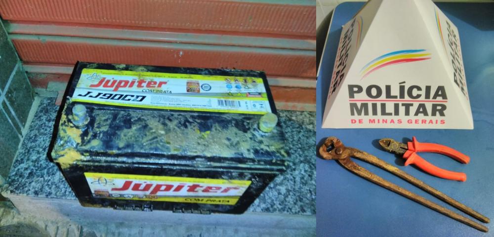 Em ação rápida PM prende autor e recupera material furtado em Manhuaçu