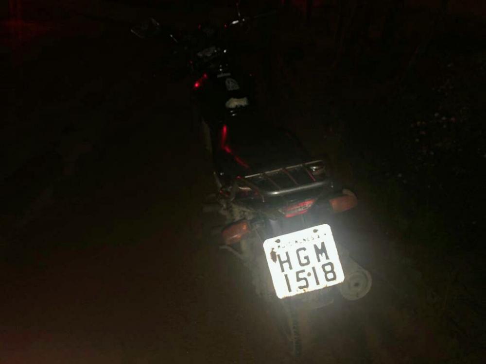 Mais uma motocicleta recuperada pela PM no bairro Matinha em Manhuaçu