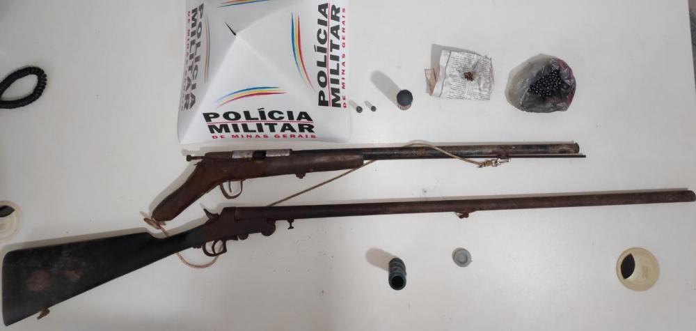 PM retira duas armas de fogo de circulação em Santa Margarida