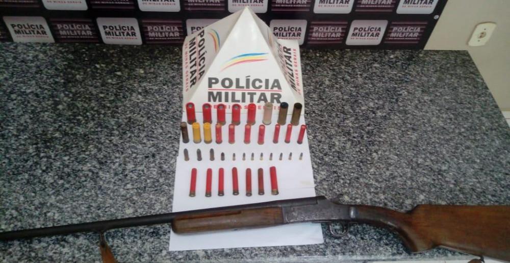 PM retira arma de fogo e munições de circulação em Mutum