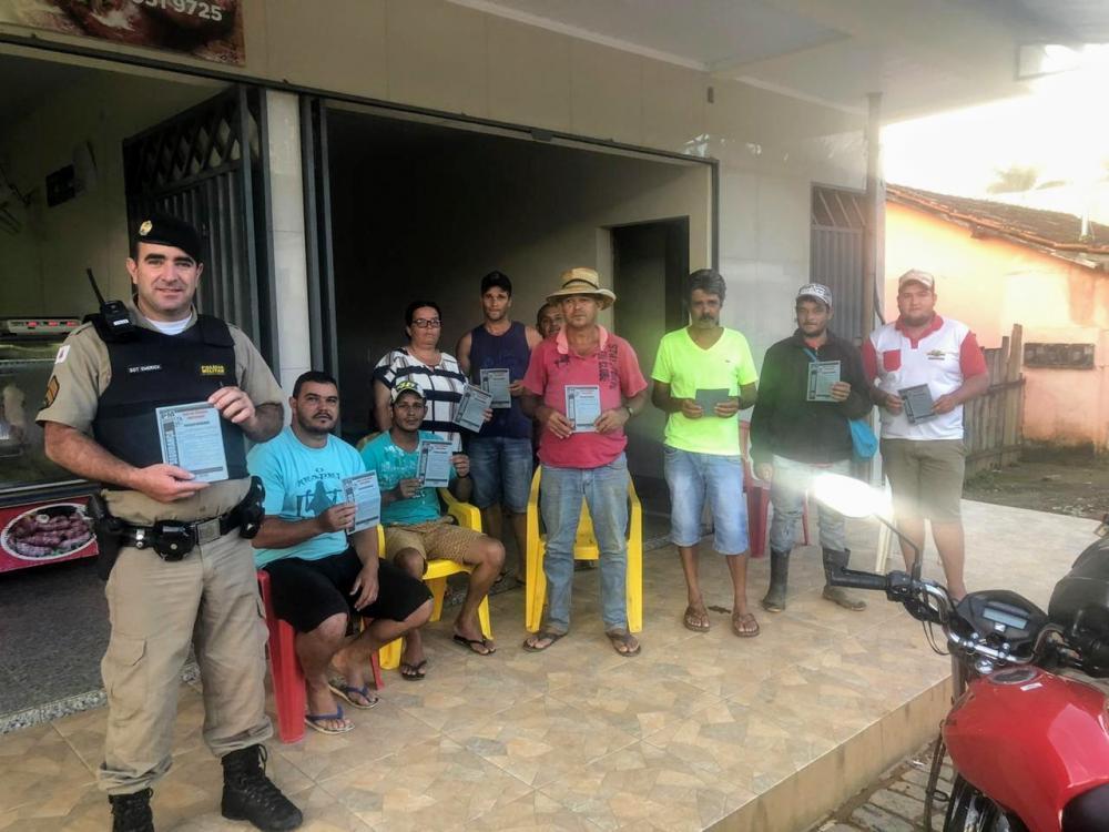 PM realiza operação de Patrulha Rural e se reúne com a comunidade em Pontões