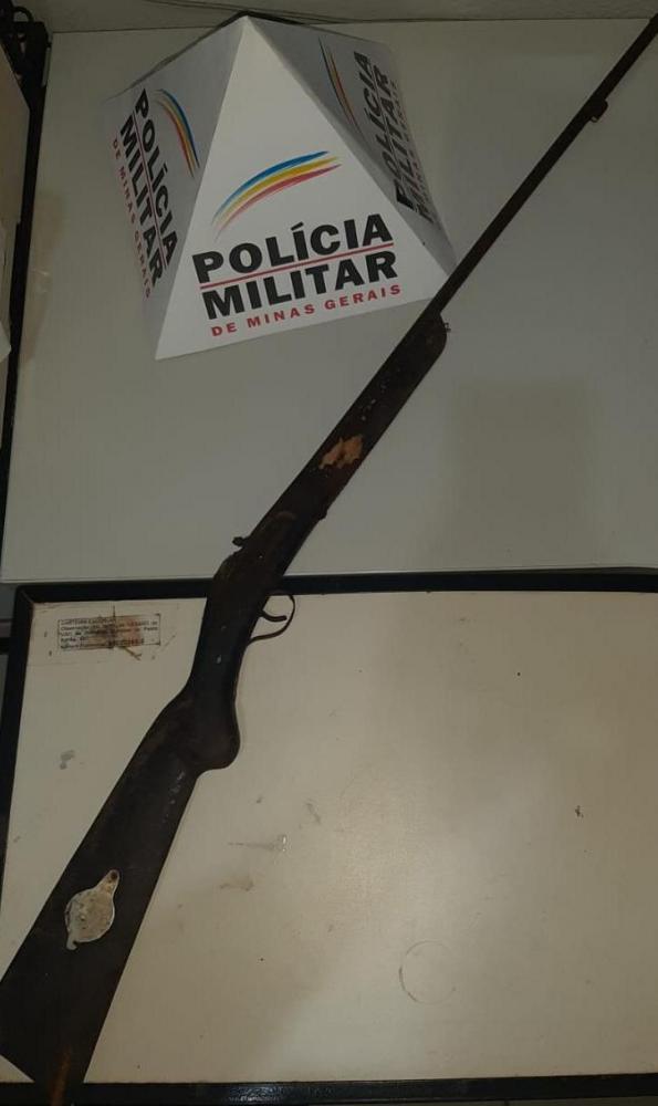 PM apreende arma de fogo na zona rural de Pedra Bonita