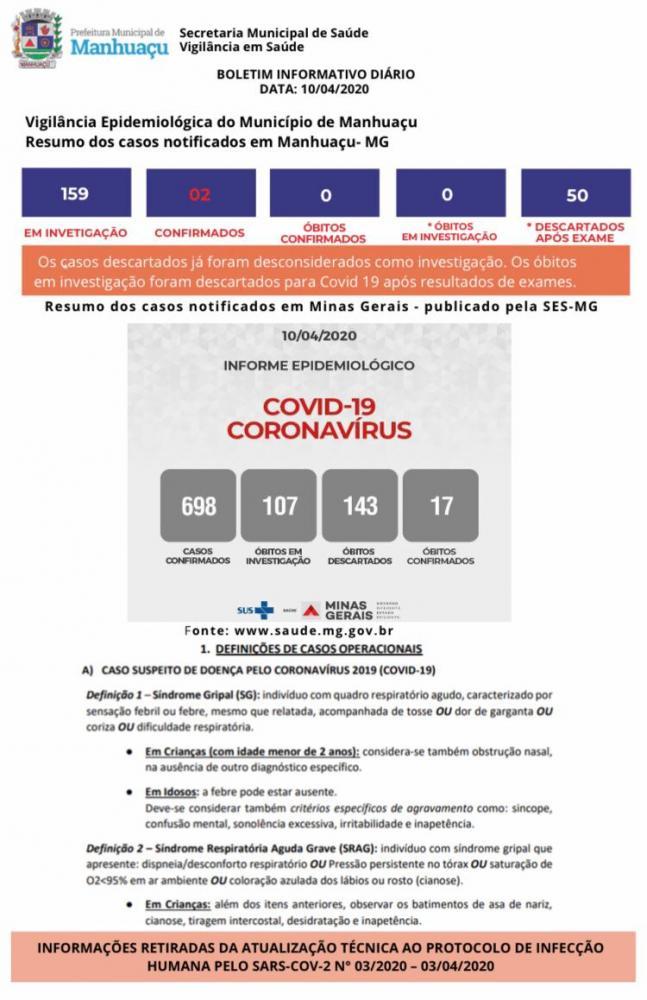 Confirmado segundo caso de Coronavírus em Manhuaçu