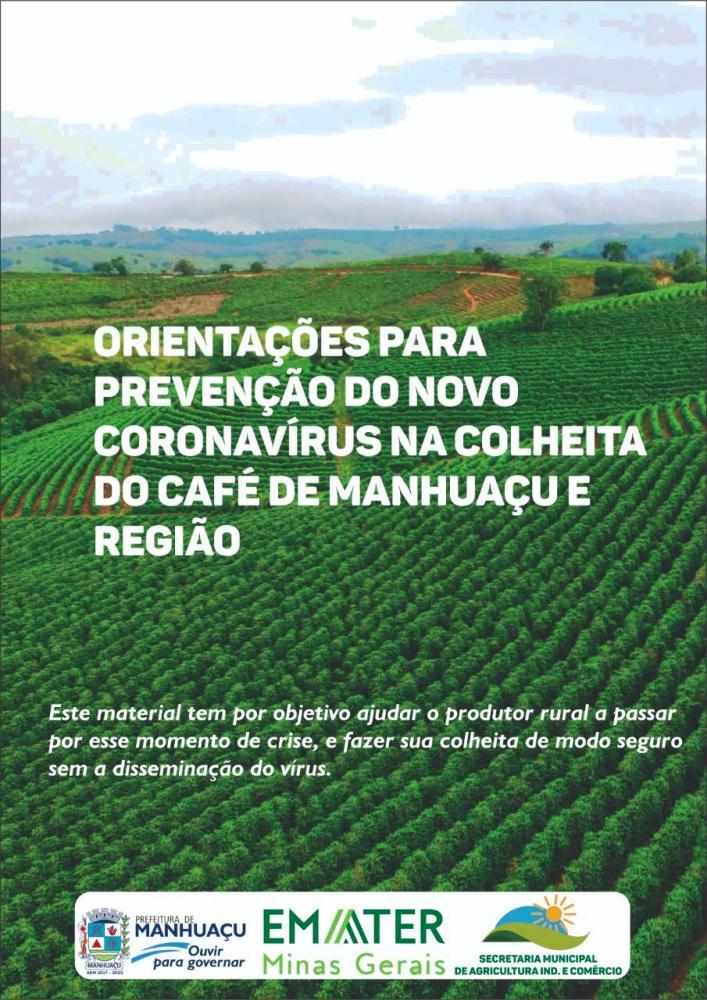 Lançada cartilha para cafeicultores sobre prevenção ao COVID-19 em Manhuaçu