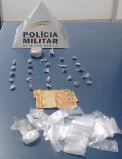 PM prende autores de tráfico ilícito de drogas em Abre Campo