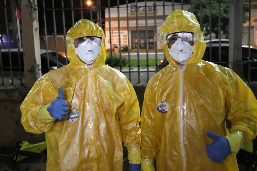 COVID-19: Bombeiros Militares de Manhuaçu participaram de treinamento em Governador Valadares para desinfecção de áreas