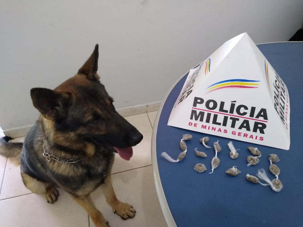 Aquiles encontra drogas no bairro Santana em Manhuaçu