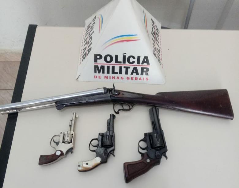 Armas de fogo foram retiradas de circulação pela PM de Luisburgo
