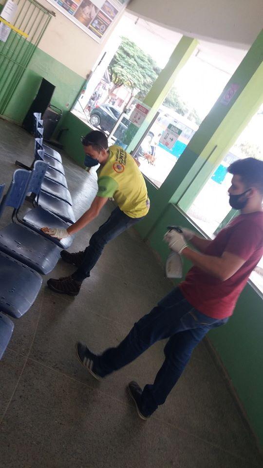 COVID-19: Terminal Rodoviário também recebe ações de higienização em Manhuaçu