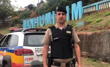 PM destaca redução da criminalidade em Manhumirim