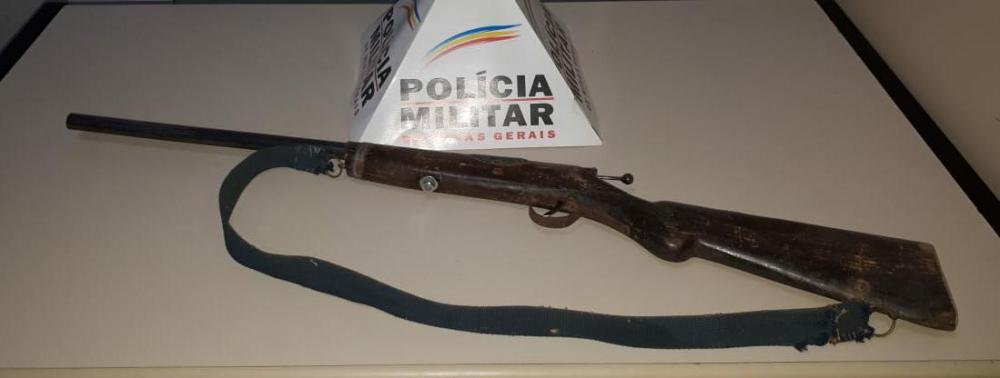 PM apreende arma de fogo na zona rural de Luisburgo