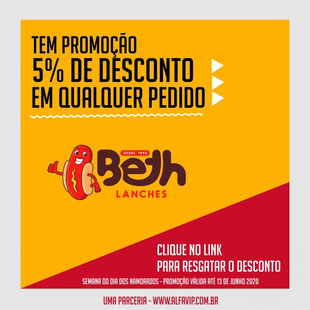 O Portal Alfavip em parceria com a Beth Lanche, irá oferecer 5% de desconto em qualquer pedido feito do dia 08 de Junho até dia 13 de Junho, para comemorar o dia dos namorados. A lanchonete da Beth fica localizada no bairro Coqueiro em Manhuaçu.