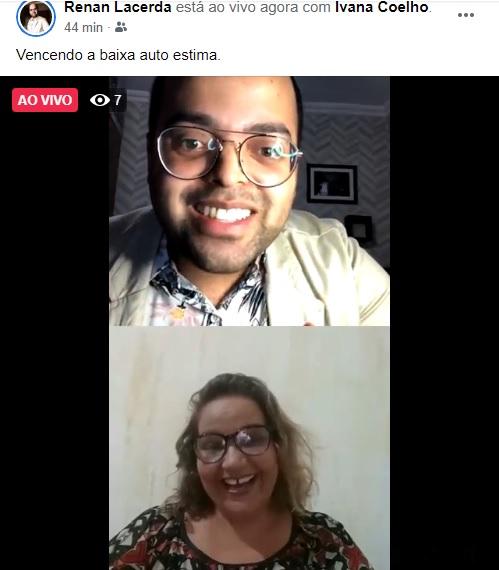 Carangolense Renan Lacerda fez live sobre o tema: Vencendo a baixa autoestima