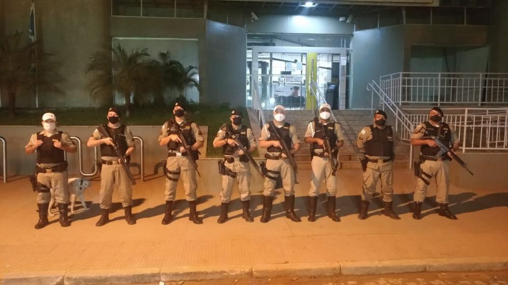 PM realiza operação para a prevenção de ações criminosas contra bancos em Mutum