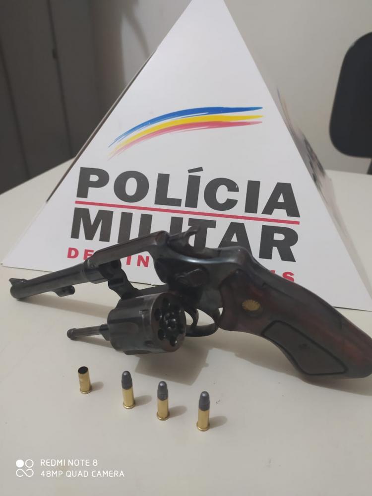 PM retira mais uma arma de fogo de circulação em Chalé