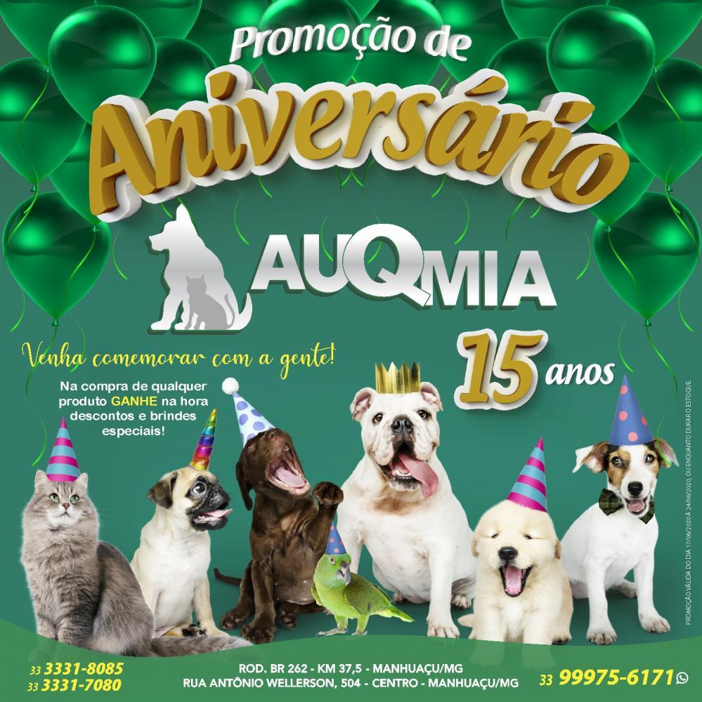 A empresa AuQmia está completando 15 anos em Manhuaçu