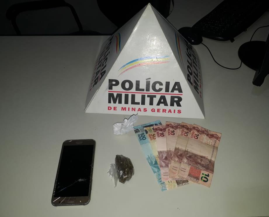 Durante abordagem PM apreende dinheiro e drogas em Espera Feliz