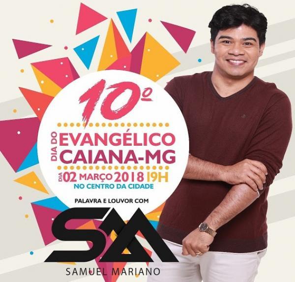 O cantor Samuel Mariano, estará na região pela primeira vez, ele irá cantar e ministrar a palavra de Deus.(Foto/Divulgação)