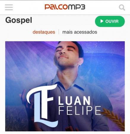 O cantor gospel do estado do Espírito Santo, divulgou na sua rede social na tarde desta segunda-feira,30/07, o destaque na capa do site e aplicativo Palco Mp3 na categoria gospel. (Foto/Rede Social)