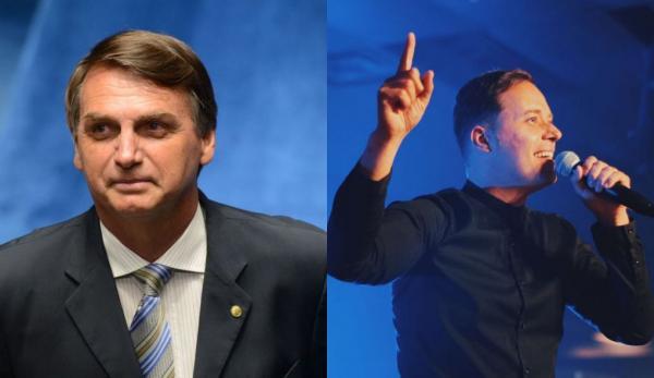 Jair Bolsonaro e André Valadão Foto: Arte/ Pleno.News