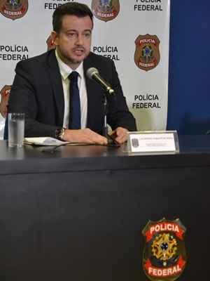 O delegado regional executivo da PF de São Paulo, Luiz Roberto Ungaretti de Godoy, confirmou na manhã desta terça-feira (4) ação da quadrilha que invadiu sistema da Fundação Getulio Vargas