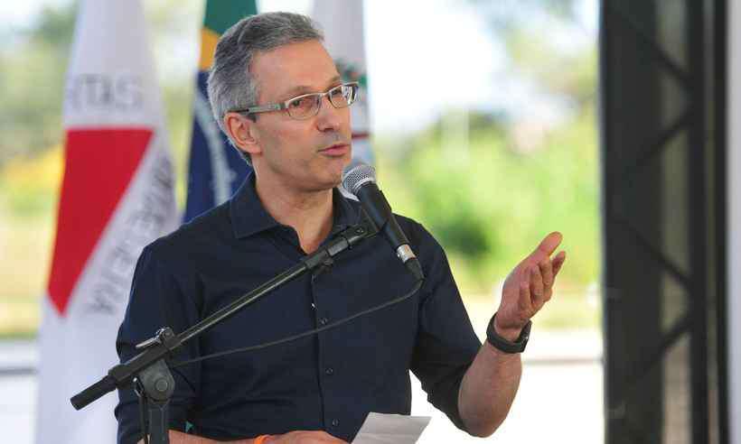 Zema disse que no setor privado nunca atrasou o pagamento de salário de funcionários (foto: Gladyston Rodrigues / EM/ D.A. Press)