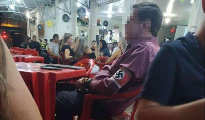 Cliente com símbolo nazista em bar provoca indignação em cidade de Minas