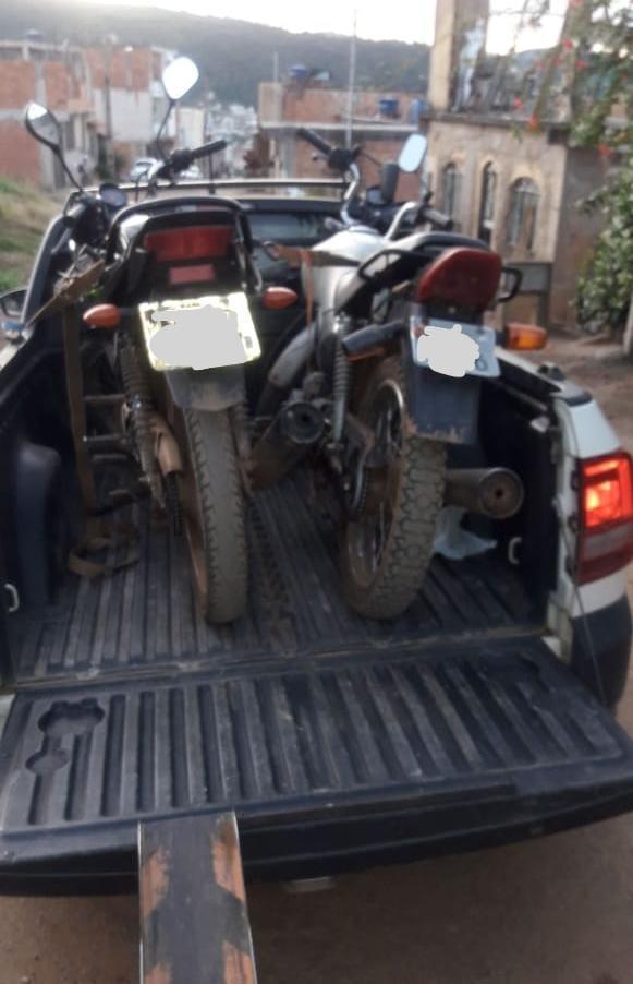PM recupera motocicletas furtadas em Manhuaçu