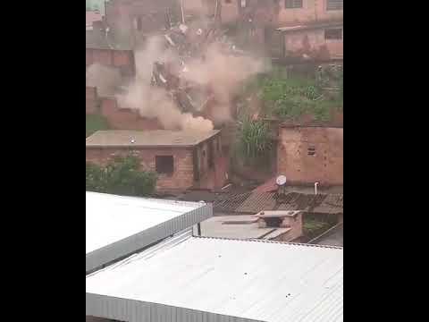 Desabamento de casa no bairro Tupi, em BH urgente minas gerais 2020