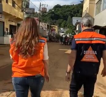Governador Romeu Zema e Cici Magalhães em Manhuaçu