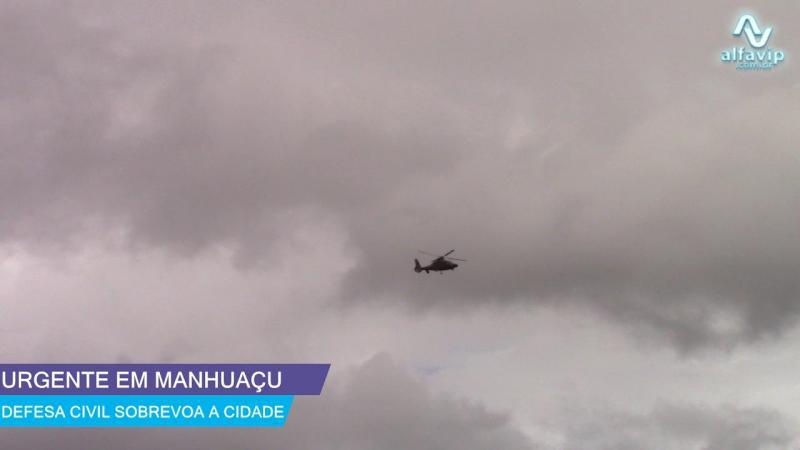 Defesa Civil sobrevoou Manhuaçu neste sábado 25 de Janeiro 2020