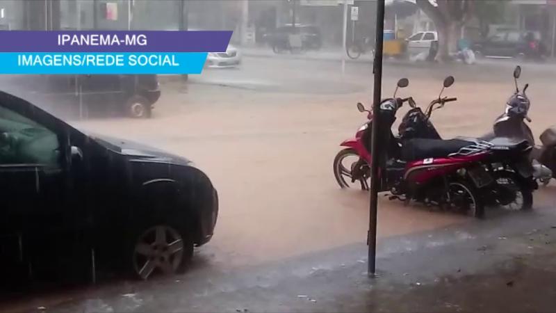 Forte chuva em Ipanema-MG nesta quinta-feira,06/02/20
